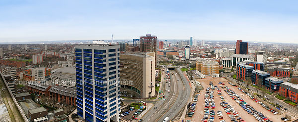 Birmingham City Centre as viewed from Hagley Road in Edgbaston, Birmingham