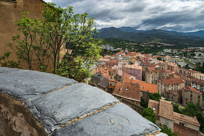 "Elevated View of the Old Town of Corte from the ""Eagle's Nest"""