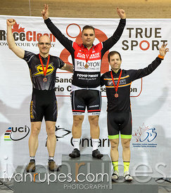 Master A Men Individual Pursuit Podium. Ontario Track Provincial Championships, March 4, 2016