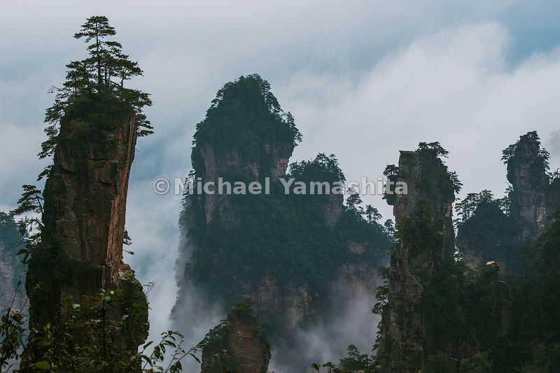 Wulingyuan National Forest Park, World Heritage site, where Avatar was filmed. Pics of Tianzhi Mountain