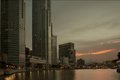 Singapore skyscrappers and river
