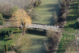 Wooden Bridge In Marais Poitevin, Damvix