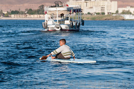 Boy on Nile Aswan