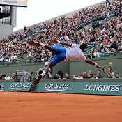 France's Gael Monfils during the Tennis French open, Roland Garros Stadium, France, on Mai 29, 2014. Photo by Philippe Montigny/ABACAPRESS.COM...