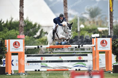 Oliva, Spain - 2018 October 14: Gold tour 1m45 - GP during CSI Mediterranean Equestrian Autumn Tour I.(photo: 1clicphoto.com)