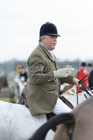 Johnnie Arkwright at the meet at Highfield Farm