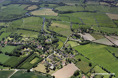 aerial photograph of Geldeston  Norfolk England UK.