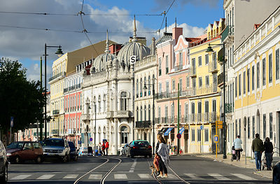 Principe Real, one of the most classy districts of Lisbon. Portugal