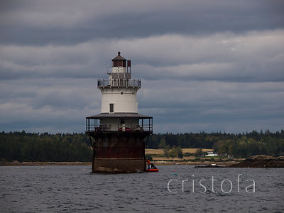 Goose Rocks Lighthouse, now in private hands