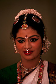 Indian Classical dancer, Madras, India