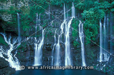 Grand Galet waterfall, Langevin River Valley, Reunion