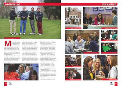 Stand Out magazine - Event Buyers Live - pages 16-17  - February 2018
