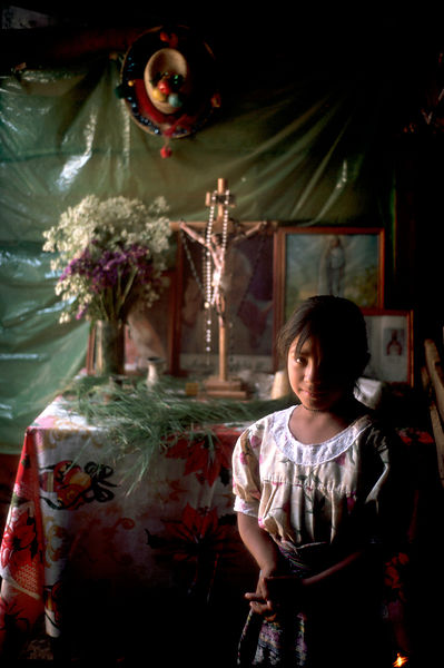 Child and alter, Guatemala