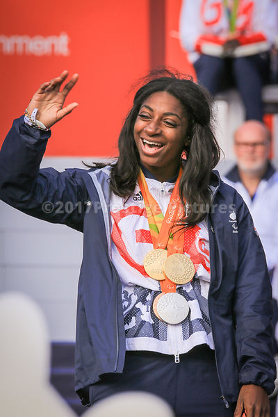 Kadeena Cox added a Gold Medal in Cycling to her T38 100m  Athletics Paralympic Bronze
