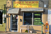 Beauty salon in a Texas Hispanic neighborhood