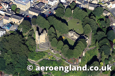 aerial photographs Knaresborough Castle Yorkshire England UK