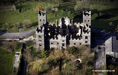 Riber Castle Matlock derelict and in ruins