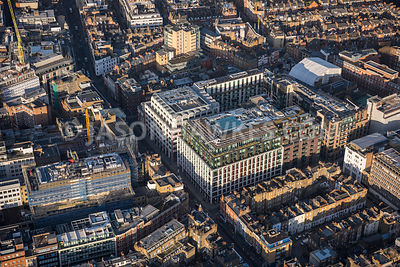 Aerial view of London, Fitzrovia
