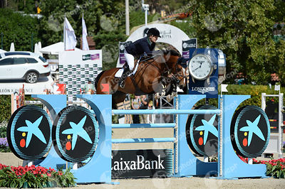 Jessica BROWN ,(AUS), EQUUS ECHO during Coca-Cola Trofey competition at CSIO5* Barcelona at Real Club de Polo, Barcelona - Spain
