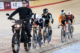 Master B Men Keirin Final. Ontario Track Provincial Championships, March 6, 2016