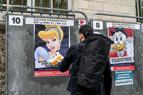 Street art during presidential election photos
