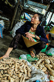 Vegetable Seller at Hoi An Market