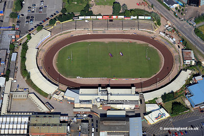 aerial photograph of the  Owlerton Stadium Sheffield West Yorkshire England UK.