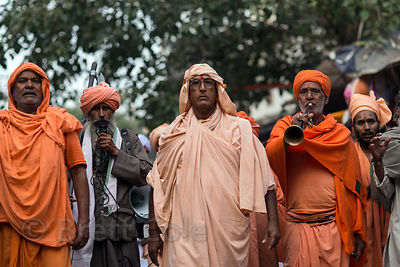 Hindu leaders march in Pushkar, Rajasthan, India