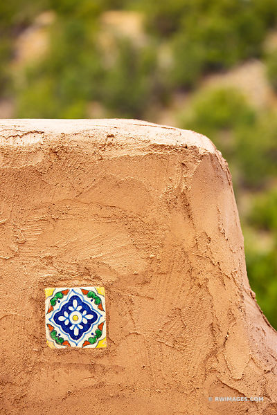 ADOBE ARCHITECTURE DETAIL ORNAMENTAL CERAMIC TILE NORTHERN NEW MEXICO