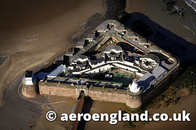 aerial photograph of  Fort Pirch New Brighton    Merseyside UK