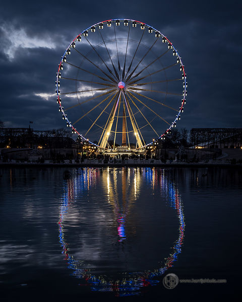 France - Paris (Roue de Paris at Dusk)
