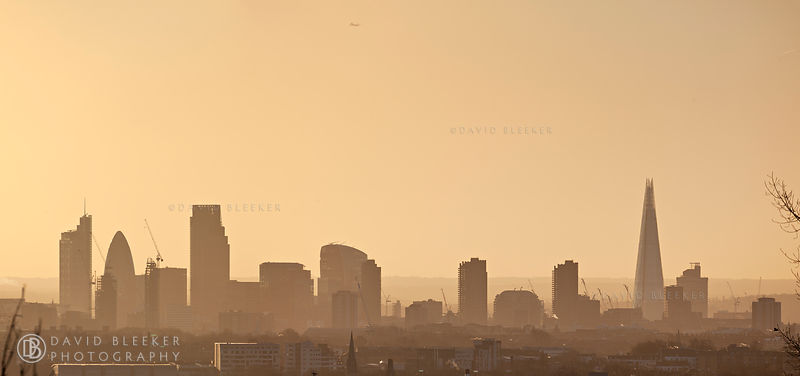 Sunrise over the London Skyline