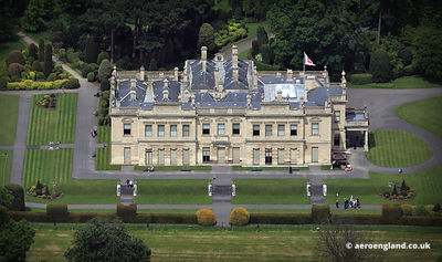 aerial photograph of Brodsworth Hall Yorkshire England UK