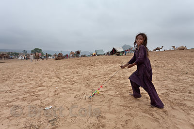 Desert girl in Pushkar, Rajasthan, India