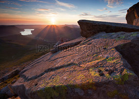 Sunset over Ennerdale Water - Lake District - Mountain Photography