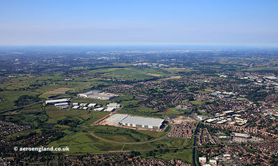 Kingsway Business Park Rochdale from the air