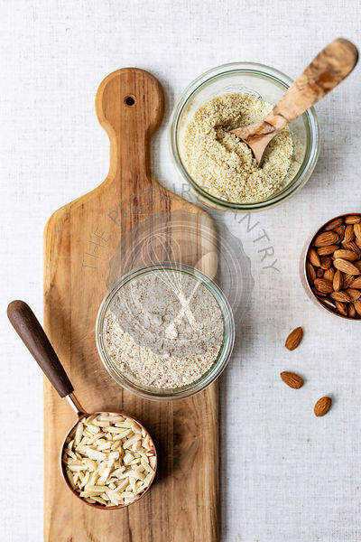 Making homemade almond flour