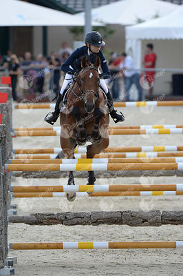 CECUGA Agnieszka, (POL), FLY AWAY VAN HET HAVERHOF during  competition at European Jumping Championship for Children, Juniors, Young riders at Lake Arena, Wiener Neustadt - Austria