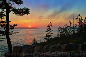 Sunset Schoodic Peninsula
