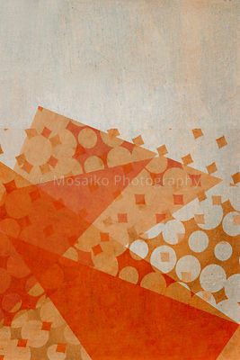 pop dots on ancient background - creative background for your text - trend color orange