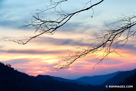 SUNSET MORTON OVERLOOK SMOKY MOUNTAINS