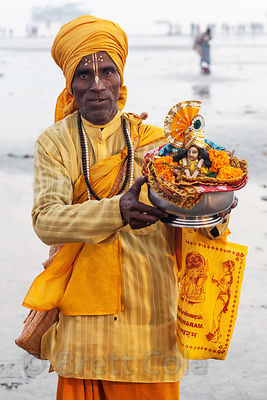 Portrait of a man at the Gangasagar Mela, Sagar Island, India.