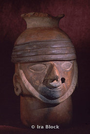 Warrior head sculpture