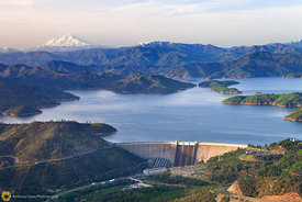Mt. Shasta and Shasta Dam from the Air #4