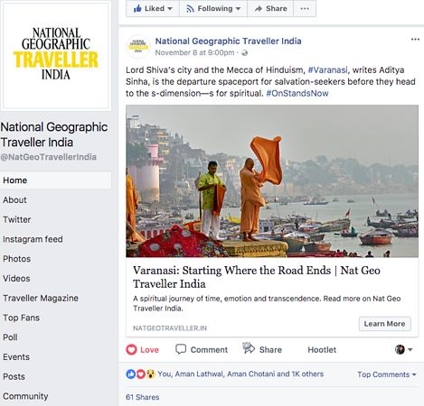 Nat Geo India, Facebook Page, Nov 08 2017 photos