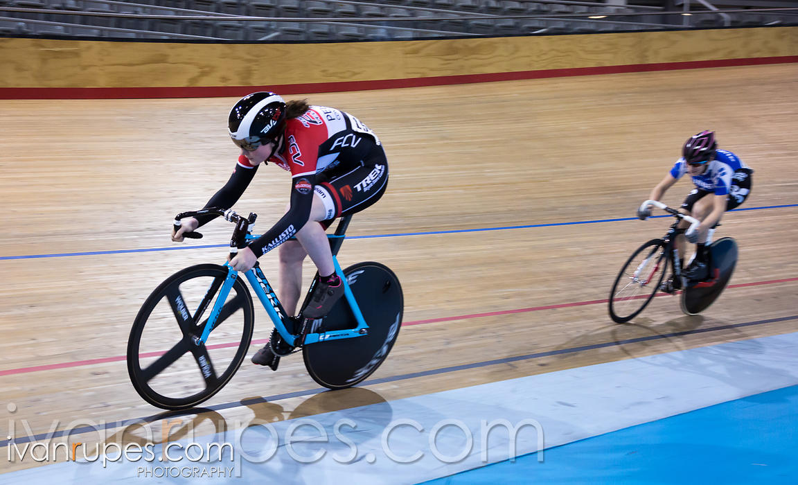 Junior Women Sprint 1-2 Final. 2016/2017 Track O-Cup #3/Eastern Track Challenge, Mattamy National Cycling Centre, Milton, On, February 11, 2017