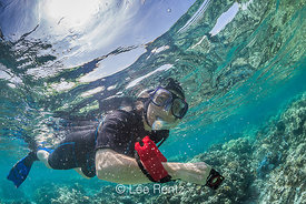 Karen Rentz Snorkeling in Kapoho Tide Pools off Hawaii's Big Island