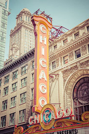 Chicago Theatre Retro Vintage Picture
