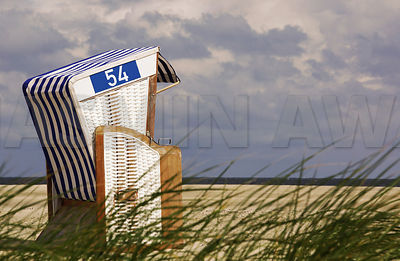 Hodded Beach Chair on North Sea Coast