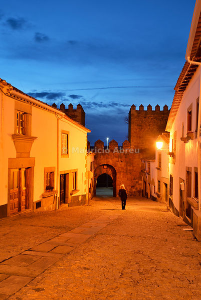 The medieval walled city of Miranda do Douro at twilight. Trás-os-Montes, Portugal (MR)